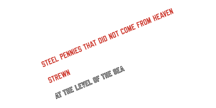 On the Blue Shore of Silence Lawrence Weiner, <I>STEEL PENNIES THAT DID NOT COME FROM HEAVEN STREWN, AT THE LEVEL OF THE SEA,</I> 2008