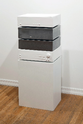 Sean Dack Untitled (Cassette Silver/White #1), 2011